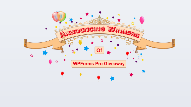 Announcing Winners of Giveaway Contest